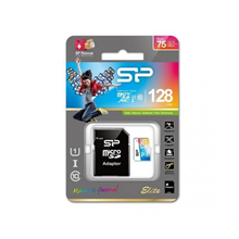 Silicon Power Color Elite MicroSDXC 128GB UHS-I U1 Class 10 - 75MBps With Adaptor