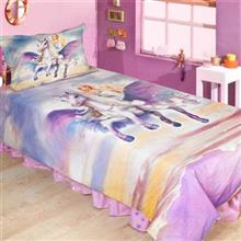 Perka Pano Ranfors Barbie Pegasus 1 Person 3 Pieces Duvet Set