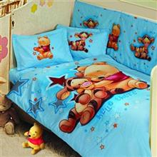 Perka Baby Sweet Pooh 1 Person 8 Pieces Duvet Set