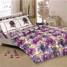 Mel Rose Rotary Satin Adrina 2 Persons 4 Pieces Duvet Set