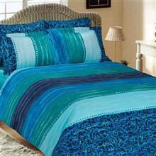 Mel Rose Rotary Ranfors Wave 2 Persons  4 Pieces Duvet Set