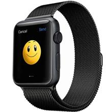 Apple Watch 42mm Stainless Steel Case with Milanese Loop Black