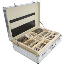 سرويس 138 پارچه قاشق و چنگال کارل اشميت مدل A Berlin طرح جعبه آلومينيومي