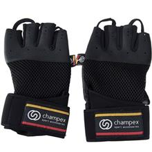Champex Lifting Gloves With Wristband Leathery XSmall