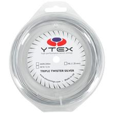 YTEX Triple Twister Silver 16 Tennis Racket String