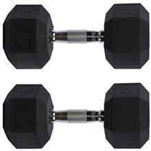 15kg Hexagonal Fitness Double Dumbbell