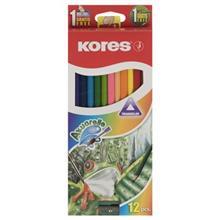 مداد آبرنگي 12 رنگ کورس