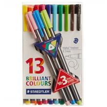 Staedtler Triplus Brilliant Colours 13 Color Rollerball Pen