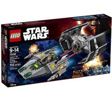 لگو سري Star Wars مدل Vaders TIE Advanced Vs A Wing Starfigh 75150