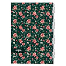 Clips 100 Sheets Flower Design 2 Ring Soft Cover Notebook