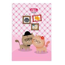 دفتر 100 برگ کلیپس طرح گربه جلد شومیز