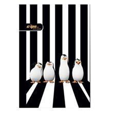 دفتر 100 برگ کلیپس طرح پنگوئن جلد شومیز