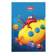 Clips 100 Sheets Marine Soft Cover Notebook