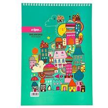دفتر نقاشی 30 برگ کلیپس طرح خانه جلد شومیز