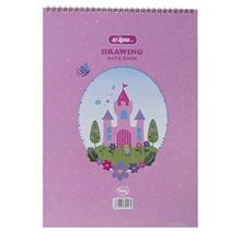Clips 30 Sheets Castle Design Soft Cover Painting Notebook