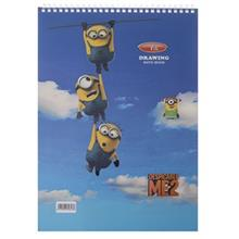 Clips 30 Sheets Minion 2 Design Soft Cover Painting Notebook