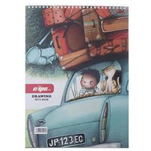 Clips 30 Sheets Traveler 1 Design Soft Cover Painting Notebook