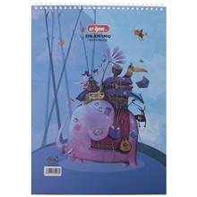 دفتر نقاشی 30 برگ کلیپس طرح مسافر 2 جلد شومیز