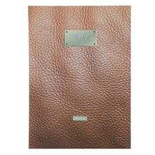 Clips 40 Sheets Soft Cover Leather Design Notebook