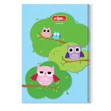 Clips 50 Sheets Painting Owls 2 Design Ring Cover Notebook