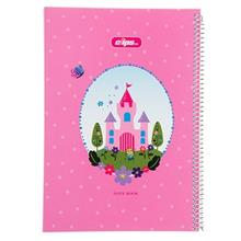 Clips 100 Sheets Ring Cover Castle Design Notebook
