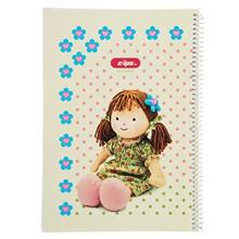 Clips 100 Sheets Ring Cover Cloth Doll Design Notebook