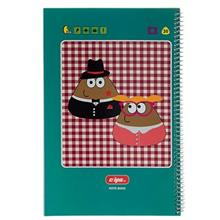 Clips 100 Sheets Ring Cover Pou Design Notebook