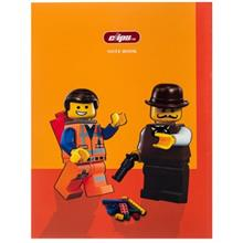 Clips 50 Sheets Soft Cover Lego Men Design Notebook