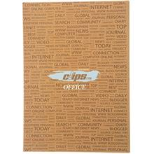 Clips 40 Sheets Soft Cover News Design Notebook