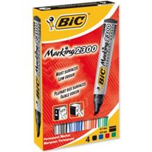 Bic Permanent 2300 Marker - Pack of 4