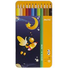 مداد رنگي 12 رنگ فکتيس با جعبه فلزي