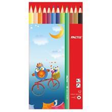 مداد رنگي 12 رنگ فکتيس با جعبه مقوايي