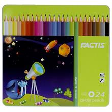 مداد رنگي 24 رنگ فکتيس با جعبه فلزي