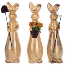Brothers And Sister Rabbit 3 Pieces Statue