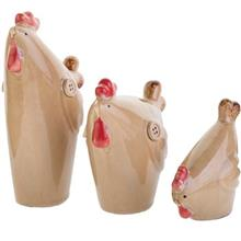 Chicken Family 3 Pieces Statue