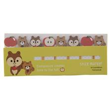 کاغذ یادداشت چسب دار مدل Stick Marker طرح سنجاب و سیب - بسته 120 عددی