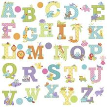 استيکر روميت مدل Dena Animal Alphabet Wall Dcls