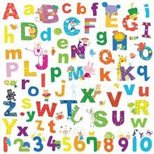استيکر روميت مدل Lazoo Alphabet Wall Decals