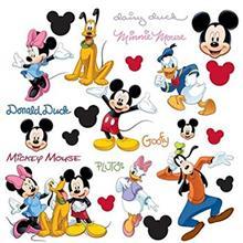 استيکر روميت مدل Mickey And Friends Appliques