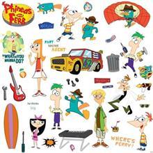 استيکر روميت مدل Phineas And Ferb Appliques