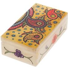 جعبه سنگ مرمر اثر بابايي طرح بته جقه رنگارنگ سايز 12 × 7 سانتي متر
