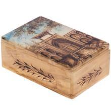 جعبه سنگ مرمر اثر بابايي طرح مدرسه چهارباغ سايز 15 × 10 سانتي متر