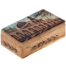 جعبه سنگ مرمر اثر بابايي طرح مسجد امام سايز 12 × 7 سانتي متر