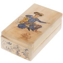 جعبه سنگ مرمر اثر بابايي طرح مرد نشسته سايز 12 × 7 سانتي متر
