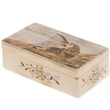 جعبه سنگ مرمر اثر بابايي طرح پيرمرد چنگ نواز سايز 12 × 7 سانتي متر
