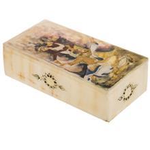 جعبه سنگ مرمر اثر بابايي طرح مينياتور زن و مرد سايز 20 × 10 سانتي متر