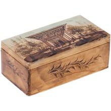 جعبه سنگ مرمر اثر بابايي طرح کاخ آيينه سايز 15 × 8 سانتي متر