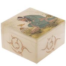 جعبه سنگ مرمر اثر بابايي طرح پير مرد و قفس سايز 10 × 10 سانتي متر