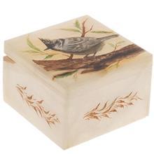 جعبه سنگ مرمر اثر بابايي طرح پرنده رئال سايز 9 × 9 سانتي متر