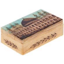 جعبه سنگ مرمر اثر بابايي طرح مسجد شيخ لطف الله اصفهان سايز 12 × 7 سانتي متر